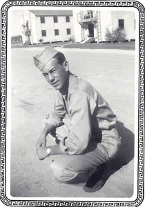 Vintage WWII image of my father Herman F. Marshall in uniform.