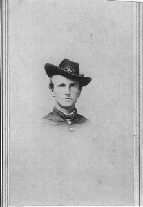 Enlisted at Hartford as private in the infantry for 3 months. He returned and re-enlisted in the Connecticut Cavalry and mustered out a Brevetted Brigadier General at age 23!